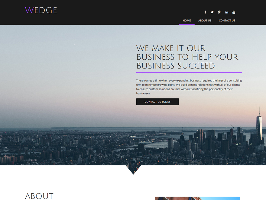 Boldgrid Consulting Theme Example 2